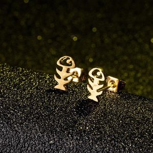 Jewelry - Fishbone Stud Earrings